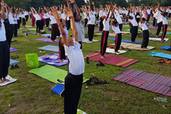 AIMST University Commemorates the International Yoga Day