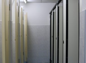 Bathroom facilities at Student Residence