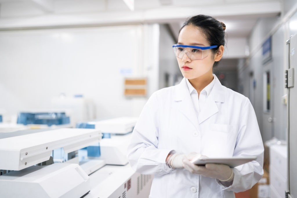Female scientist in a medical laboratory