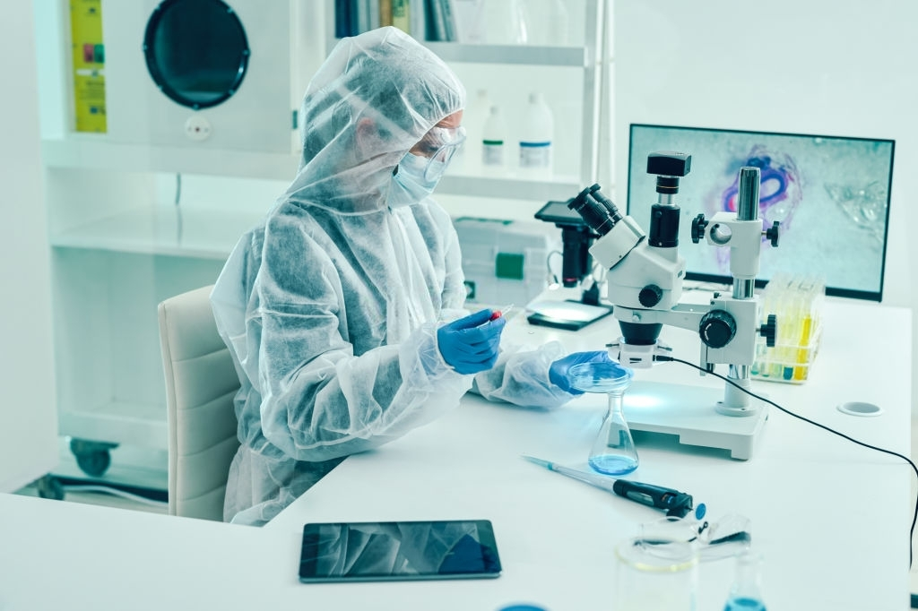 Shot of a scientist conducting research in a laboratory